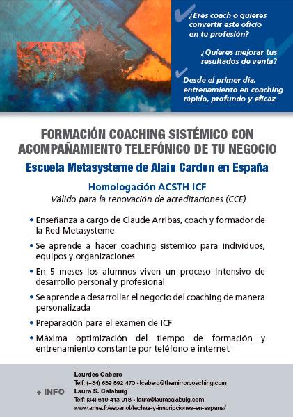 Formación Coaching Sistémico - Escuela Metasysteme de Alain Cardon